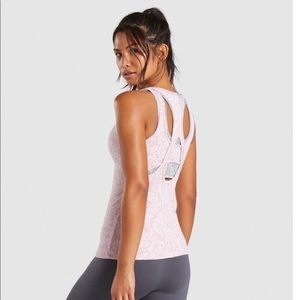NWT Gymshark XS fleur texture vest (tank top)